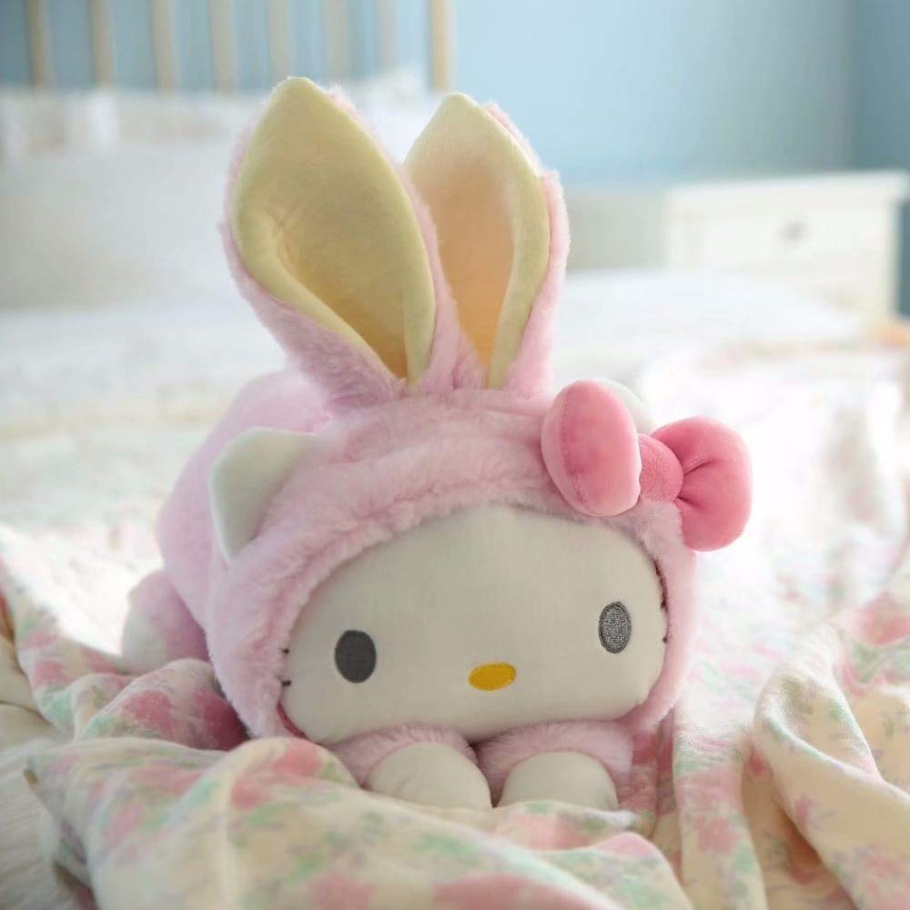 1Pc 32Cm Cute My Melody Cinnamoroll Dog Rabbit Hat Plush Doll Hold Pillow Rest Cushion Girl Birthday Stuffed Toy Thing You Must Have 1 Year Old Girl Gifts The Favourite Comic Superhero Classroom by ILUTOY