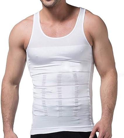 Camisetas sin Mangas para Adelgazar Negras/Blancas Ropa Interior Body Shaper Cintura Cincher Men Tummy Control Belly Slim: Amazon.es: Ropa y accesorios