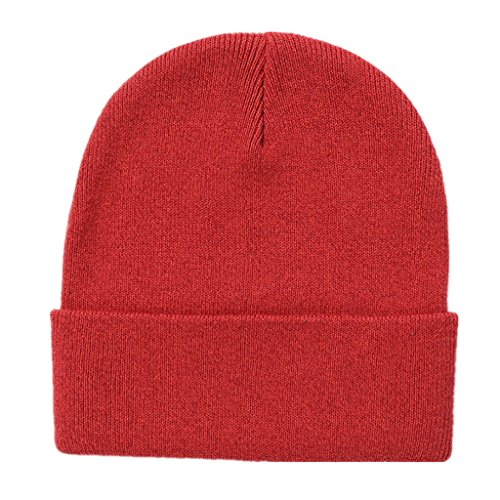 Kids Beanie Red (Home Prefer Classic Soft Warm Knitted Hat for Toddlers Boys Girls Skull Beanies Kids Winter Hat Red, M)
