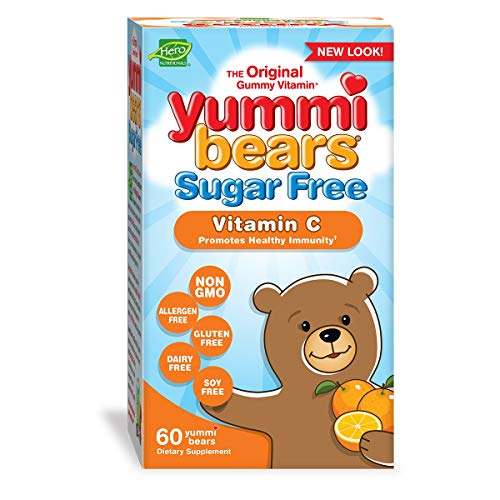 Yummi Bears Sugar Free Vitamin C Gummy Vitamin Supplement for Kids, 60 Count