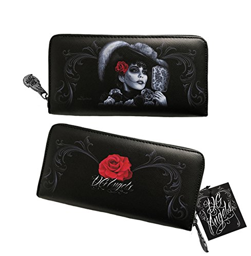 the Zippered Wallet Dead Women's Clutch Day DGA Rockabilly of Angels Catrina BzwUBvRxt
