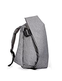 KALIDI Waterproof Large Capacity Laptop Tablet Rucksack Unisex Backpack, Dark Gray, 17 Inch
