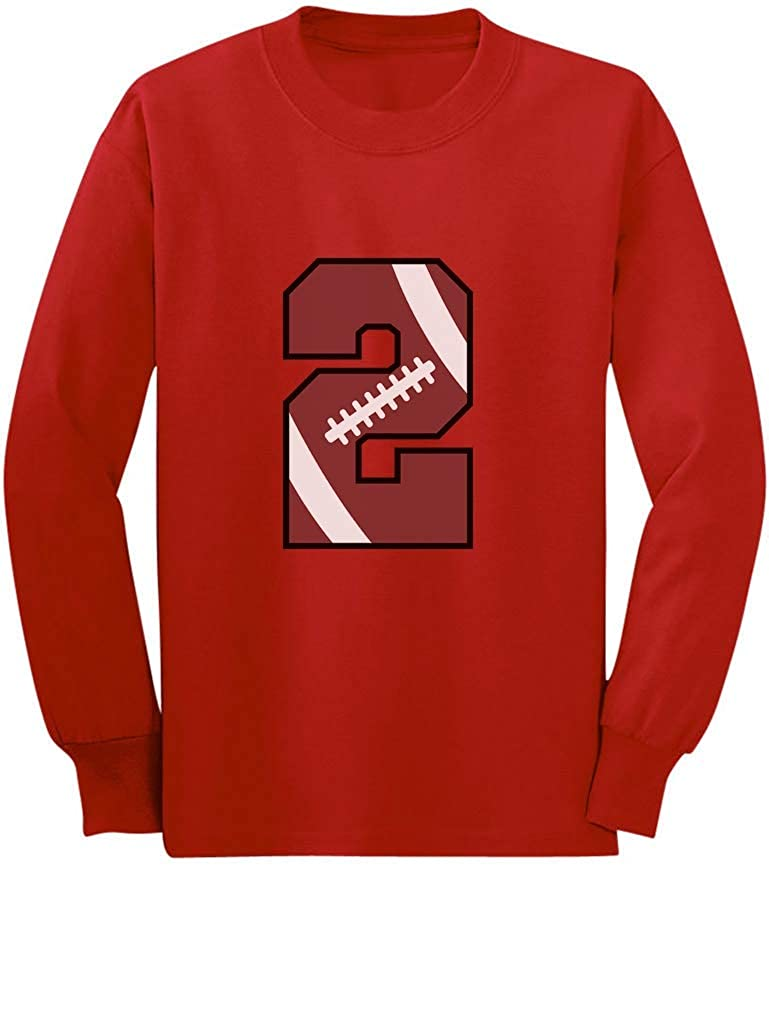 Gift for 2 Year Old 2nd Birthday Football Toddler//Kids Long Sleeve T-Shirt