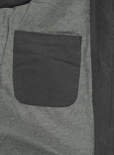 Piumino Cappuccio Con solid Grey Giubotto Gilet Dry Dark qgnW4t8