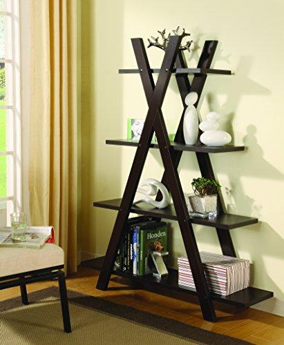 Coaster Home Furnishings X-Shape Bookcase Cappuccino ()