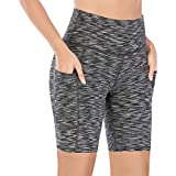 IUGA Yoga Shorts for Women Workout Shorts Tummy Control Running Shorts with Side Pockets
