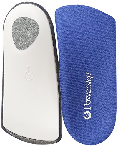 Powerstep SlimTech 3/4 Length Orthotic Shoe Insole, Blue, Men's 5-6.5, Women's 7-8.5 One Size