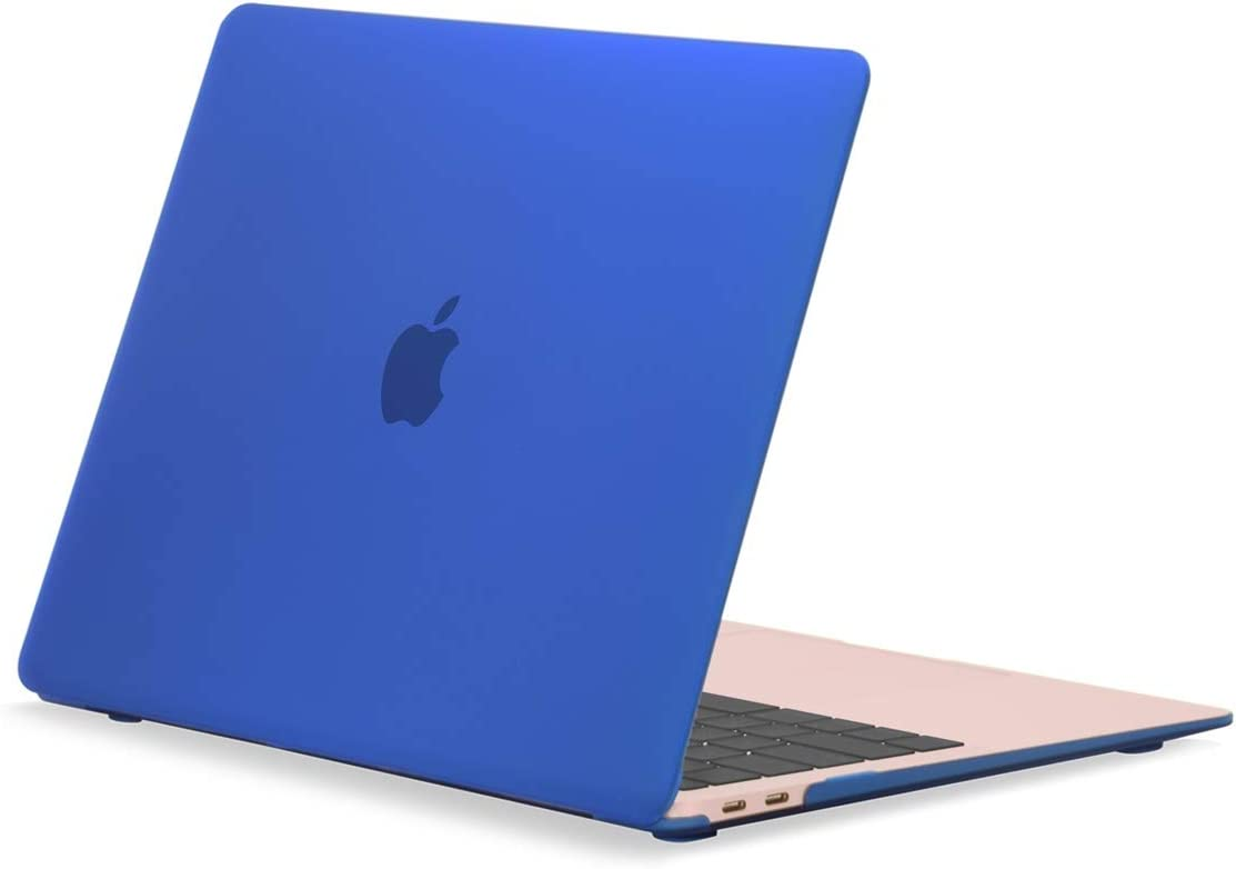 """TOP CASE MacBook Air 13 Inch Case 2020 2019 2018 Release A1932/A2179, Classic Series Rubberized Hard Case Compatible MacBook Air 13"""" with Retina Display fits Touch ID - Royal Blue"""