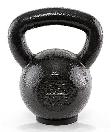 Fitness Solutions LLC Black Hammertone Kettlebells (26 LB)