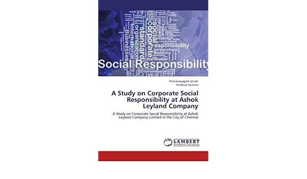 A Study on Corporate Social Responsibility at Ashok Leyland Company