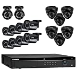 Lorex 16 Channel 4K 4MP 16 Camera Security System NR9163 3TB HDD 10 4MP LNB4421B Bullet Cameras 6 4MP LNE4422B Dome Cameras with Color Night Vision