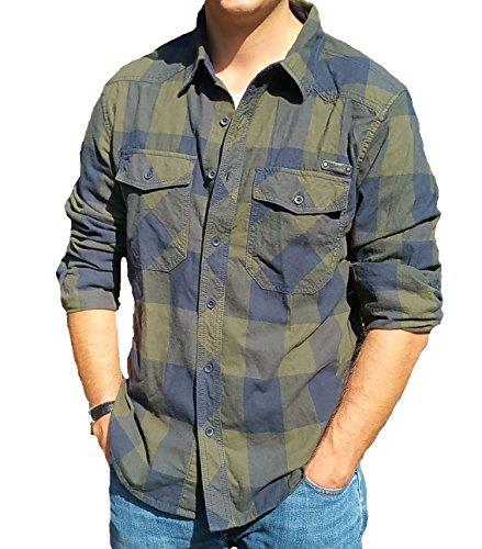 ZBED Brandit Check Shirt Olive-Blue 3XL