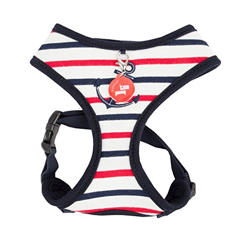 Puppia Authentic Capitane Harness A, Medium, Navy