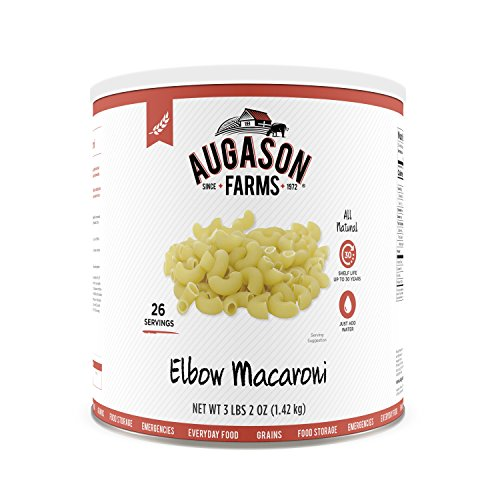 Augason Farms Elbow Macaroni Pasta 3 lbs 2 oz No. 10 Can