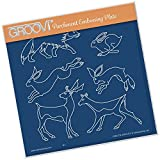 Groovi Embossing A5 Square ~ Woodland Animals, GRO40516