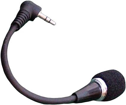 Shiwaki Negro 3.5mm Micrófono Mic Negro para Smartphone ...