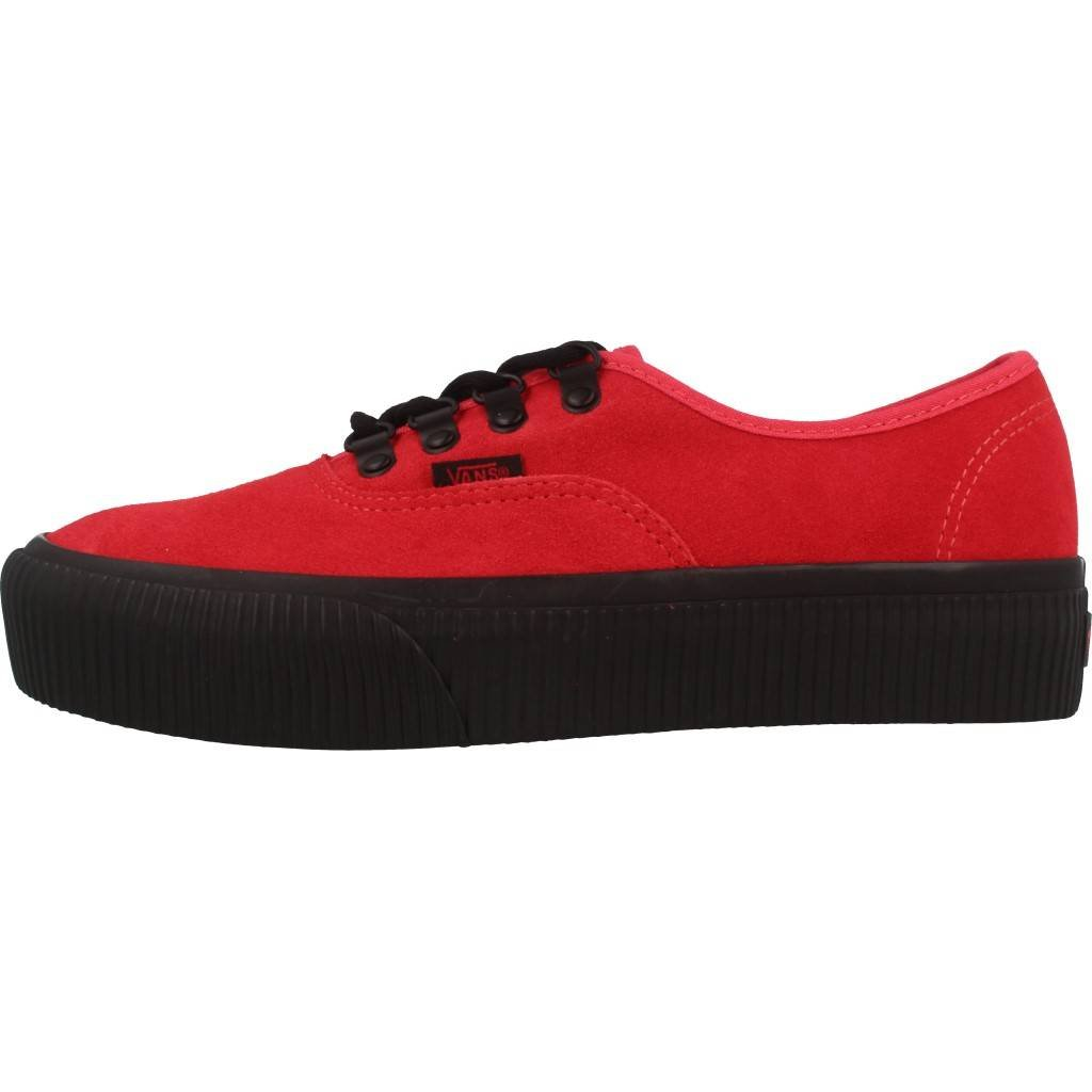 7ebf0e40b49f79 Vans Womens Authentic Platform Embossed Roco Red Shoes 7  Amazon.co.uk   Shoes   Bags