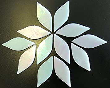 White 50g Small Petals Stained Glass