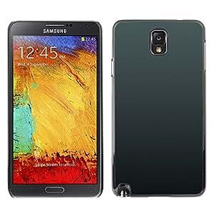 TopCaseStore / la caja del caucho duro de la cubierta de protección de la piel - Simple Gray 3 - Samsung Galaxy Note 3 N9000 N9002 N9005