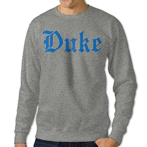 BestGifts Men's Duke University Crew Neck Sweatshirt Ash Size XL