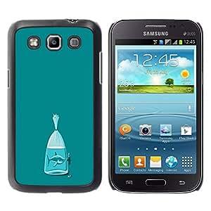 Paccase / SLIM PC / Aliminium Casa Carcasa Funda Case Cover para - Shark Teal Fish Meaning Metaphor - Samsung Galaxy Win I8550 I8552 Grand Quattro