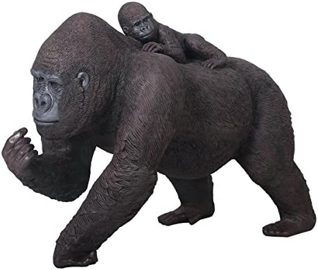 Design Toscano The Lowland Gorillas Mother and Child Great Ape Statue