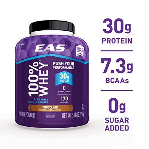 EAS 100% Pure Whey Protein Powder, Chocolate, 5lb Tub, 30 grams of...