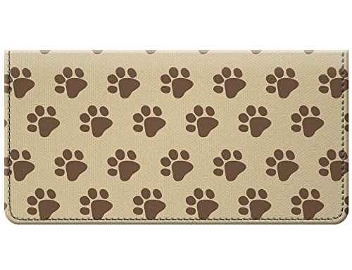 (Paw Print Design Neutral Snaptotes Checkbook Cover)