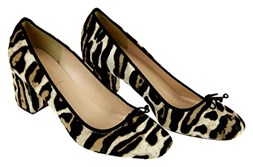 J Crew Sophia Pumps in Calf Hair 6.5 Tan Black Leopard, used for sale  Delivered anywhere in USA