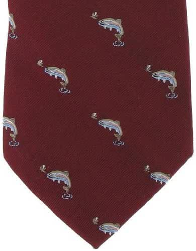 Red Fish Silk Tie by Michelsons of London