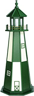 product image for DutchCrafters Decorative Lighthouse - Wood, Cape Henry Style (Green/White, 5)
