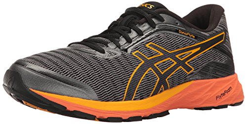 ASICS Men's Dynaflyte Running Shoe, Carbon/Black/Citrus, 9 M US