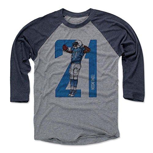 500 LEVEL LaDainian Tomlinson Baseball Shirt Medium Navy/Heather Gray - Vintage San Diego Football Fan Apparel - LaDainian Tomlinson Sketch 21 L ()