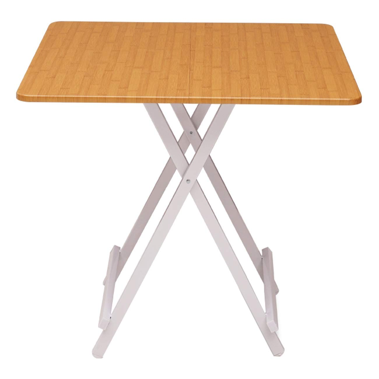 orange A Folding Table Portable Outdoor Stall Table Indoor Multi-Function Table, Multi-color Size Optional (color   Wood color, Size   A)