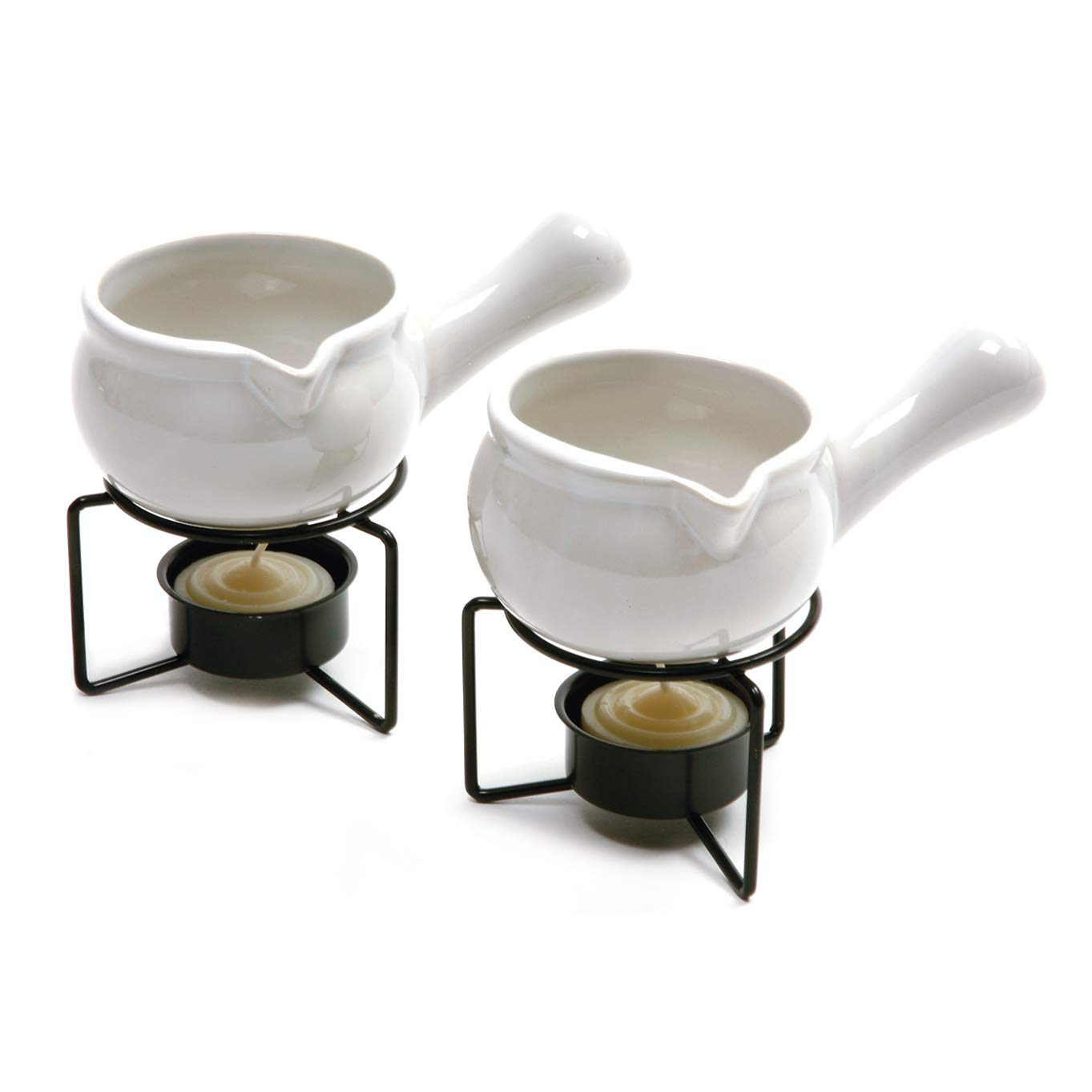 Norpro 210 Ceramic Butter Warmers, Set of 2, 1/3 cup/3 oz, White by Norpro