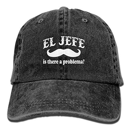El Jefe -The Boss In Spanish Funny Mexican Vintage Adjustable Cowboy Hat Gym Caps For Adult]()