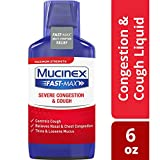 Congestion and Cough Liquid, Mucinex Fast-Max Adult Severe Congestion and Cough Liquid, 9 oz, Fast Acting Maximum Strength Formula, Dextromethorphan HBr, Guaifenesin, and Phenylephrine HCl