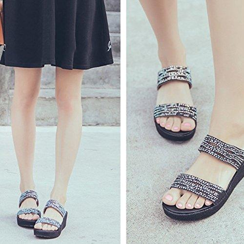 Zapatillas Paño Las Opcionales Colores Opcional de Pantuflas 3 los los cequis Sandalias Zapatos del con Tamaño Zapatillas Verano ZZHF A de 4HqYw7x