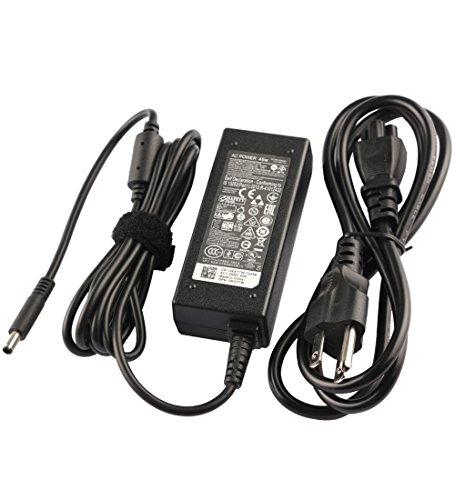 45W AC Adapter Charger for Dell Inspiron 15 5000 5551 5555 5558 5559 5565 5567 5568 5578 5579 5758 7558, 11 3147 3148 3152 3153 3157 3162 3168 i3147, Latitude 7202 7350 12 7202 13 3379 + Power Cord