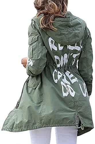 83b57fc84fcf I Really Don't Care Do U Melania Women Trump Mechanic Cargo Olive Summer  Jacket