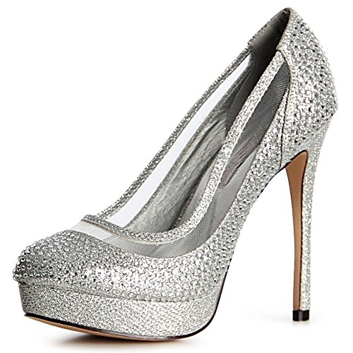 topschuhe24 - Zapatos de vestir para mujer plata