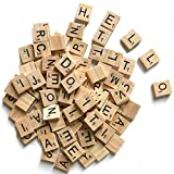 vintage scrabble tiles - 500 Wood Scrabble Tiles,Scrabble Letters for Crafts - DIY Wood Gift Decoration - Making Alphabet Coasters and Scrabble Crossword Game