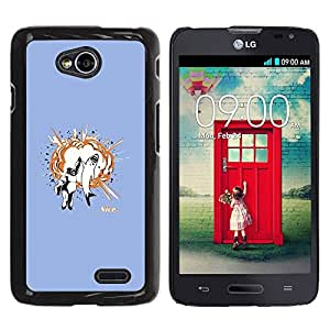 Paccase / SLIM PC / Aliminium Casa Carcasa Funda Case Cover para - Funny Awesome Shark High Five - LG Optimus L70 / LS620 / D325 / MS323