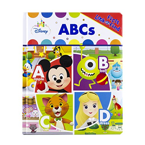 Disney Baby Mickey Mouse, Dumbo, and More! - ABCs Little First Look and Find Board Book - PI Kids (My First Look And Find Mickey Mouse Clubhouse)