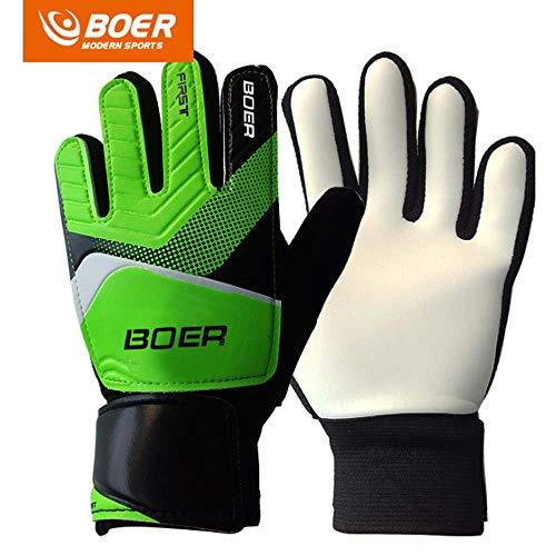 BOER Green 7# Children Kids Youth Football Soccer Goalkeeper Goalie Training Gloves Gear