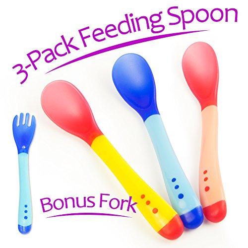 Baby Spoon Feeder (White) Set of 6 - 4