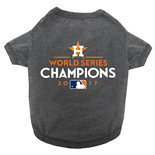MLB 2017 WORLD SERIES Houston Astros Championship Tee Shirt for DOGS & CATS. Available in 5 Sizes. LIMITED EDITION Pet Shirt. (X-Small)