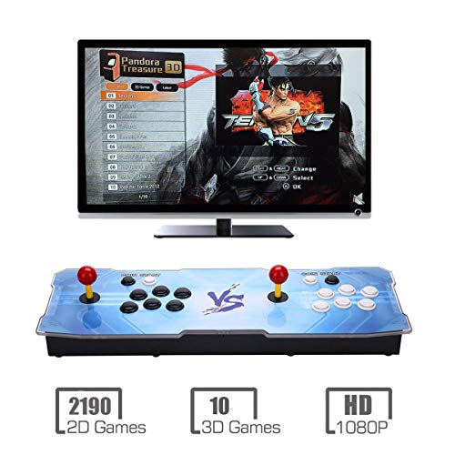 MYMIQEY Pandora Treasure 3D Arcade Game Console   2200 Retro HD Games   Full HD (1920x1080) Video   2 Player Game Controls   Support Multiplayer Online   Add More Games   HDMI/VGA/USB/AUX Audio Output by MYMIQEY (Image #5)