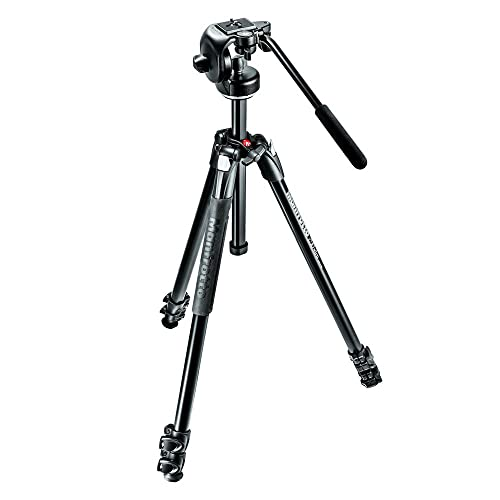 Manfrotto 290 Xtra Aluminium 3 Section Tripod Kit with 2 Way 128RC Fluid Head