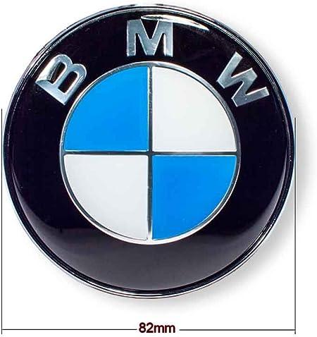 51141807495 2x BOCCHETTE PER BMW logo emblema cofano 82mm 6er e63 e64-Nuovo